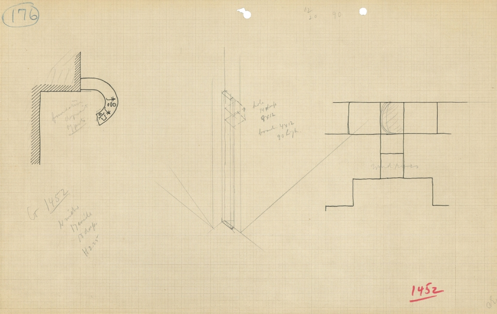 Maps and plans: G 1452+1453: G 1452, Sketches of N niche