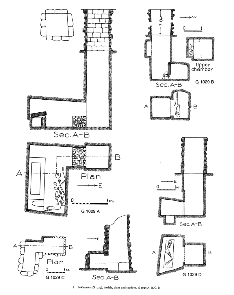 Maps and plans: G 1029, Shaft A, B II, C, D