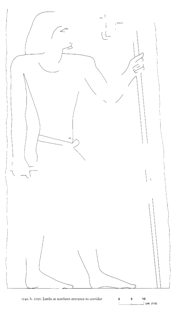 Drawings: G 2091: relief from jamb at N entrance to corridor