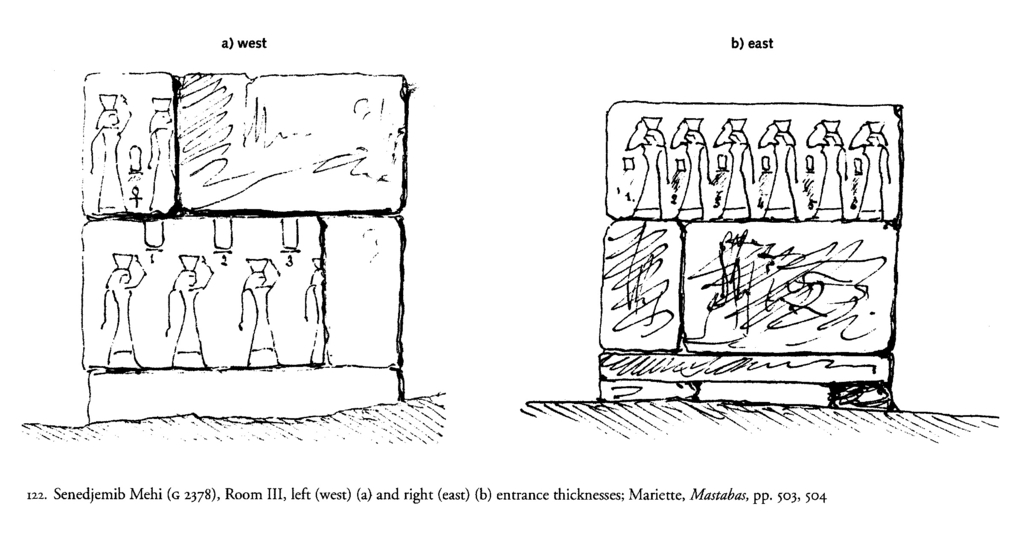 Drawings: G 2378: relief from Room III, E and W entrance thicknesses