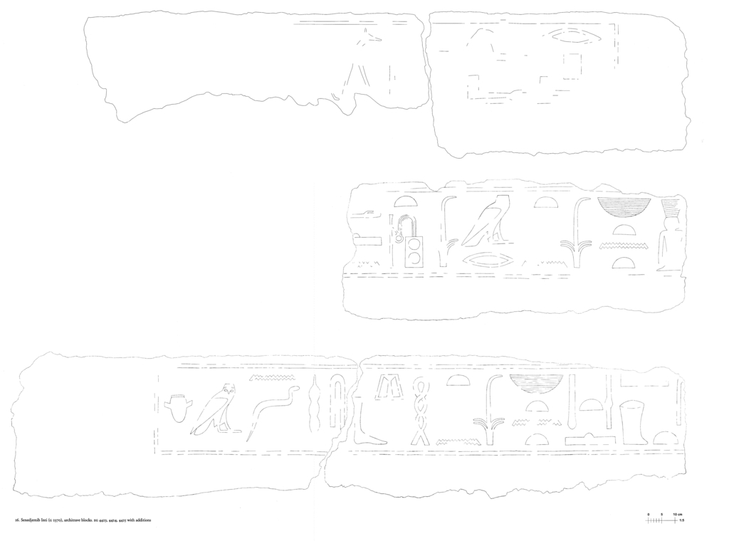 Drawings: G 2370: relief from architrave blocks