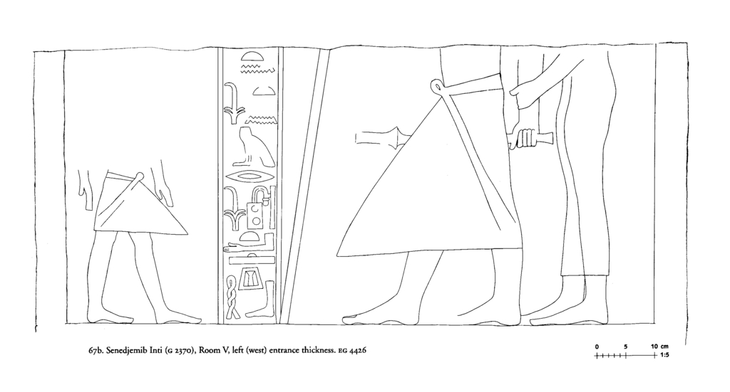 Drawings: G 2370: relief from Room V, W entrance thickness