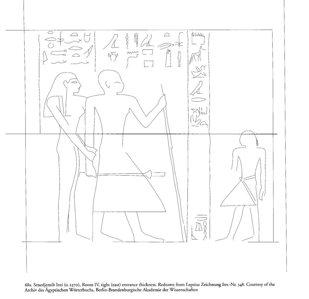 Drawings: G 2370: relief from Room IV, E entrance thickness