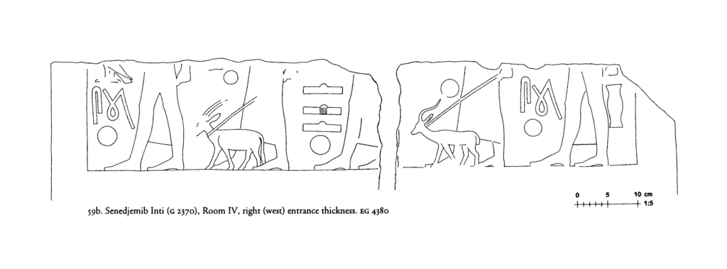 Drawings: G 2370: relief from Room IV, W  entrance thickness
