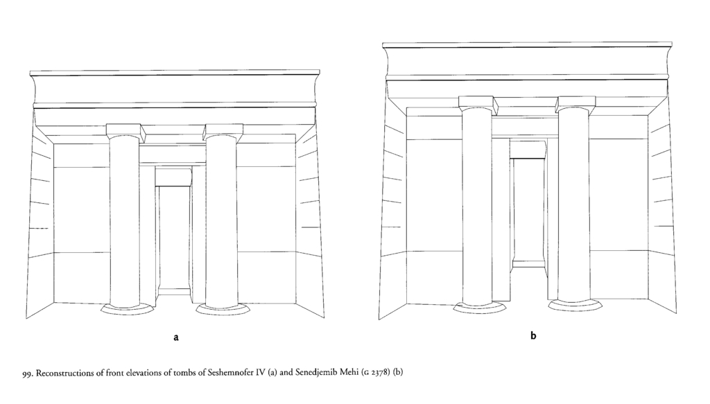 Drawings: Elevations of G 2378 and Lepsius 53, reconstruction