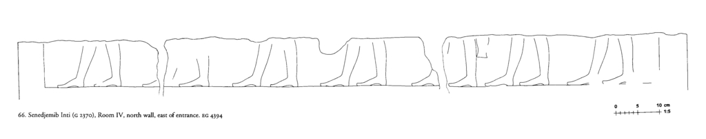 Drawings: G 2370: relief from Room IV, N wall, E of entrance