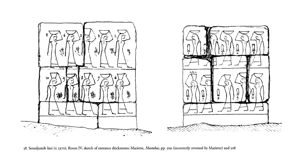 Drawings: G 2370: relief from Room IV, entrance thicknesses