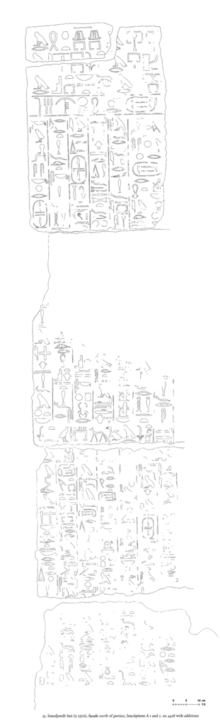 Drawings: G 2370: inscriptions from N of portico, Inscriptions A 1 and 2