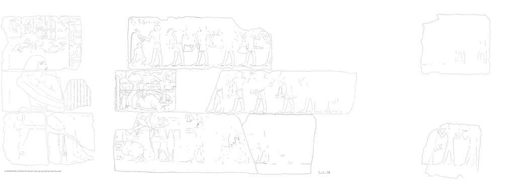 Drawings: G 2378: relief from Room III, E and N walls