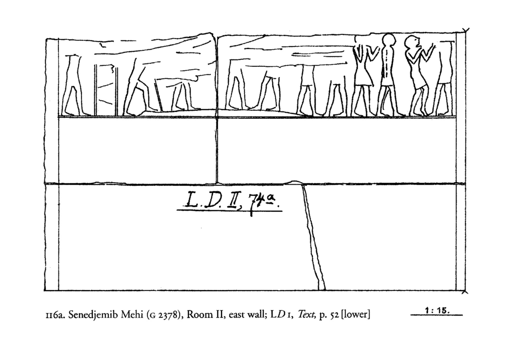 Drawings: G 2378: relief from Room II, E wall