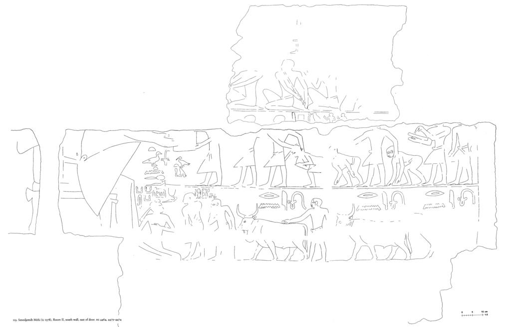 Drawings: G 2378: relief from Room II, S wall, E of door