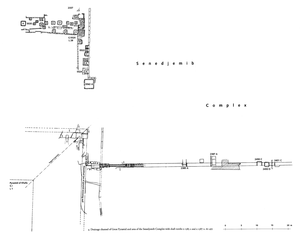 Maps and plans: Partial plan of Khufu Pyramid and G 2385