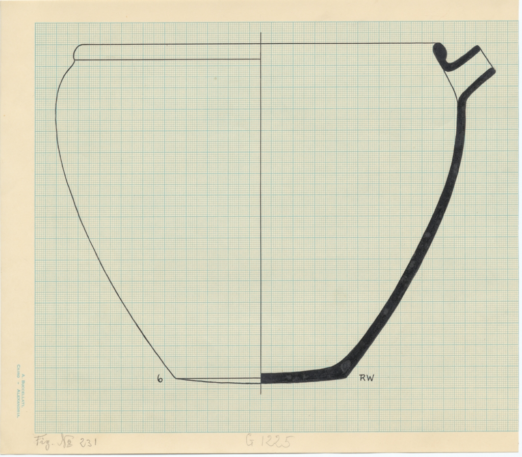 Drawings: G 1225, Shaft A: pottery, bowl with spout