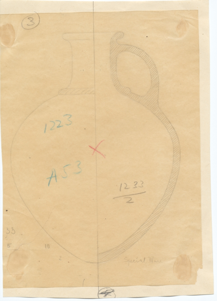 Drawings: G 1223-Annex: pottery, pitcher with handle