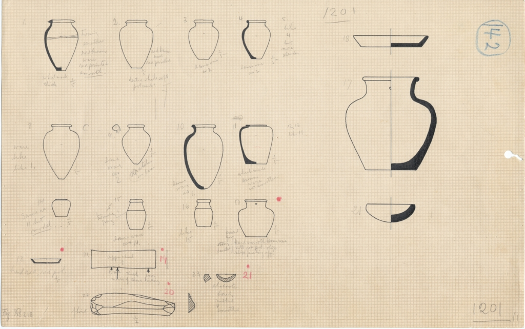 Drawings: G 1201: objects