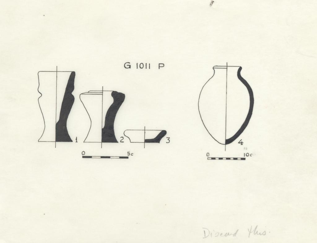 Drawings: G 1011, Shaft P: vessels