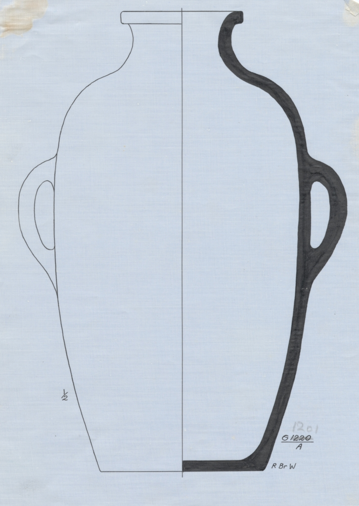 Drawings: G 1201, Shaft A: pottery jar