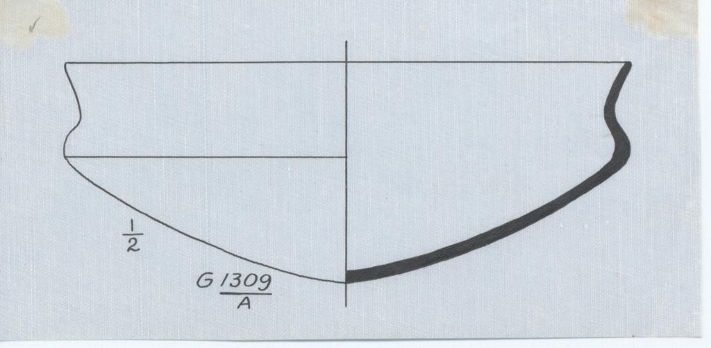 Drawings: G 1309, Shaft A: bowl