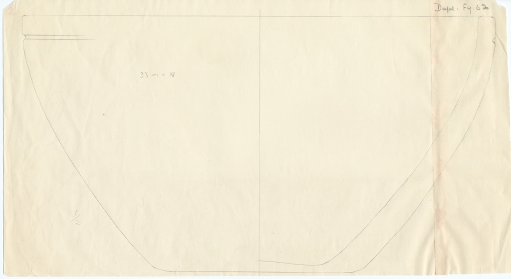 Drawings: G 2120, Shaft A: pottery fragments, basin