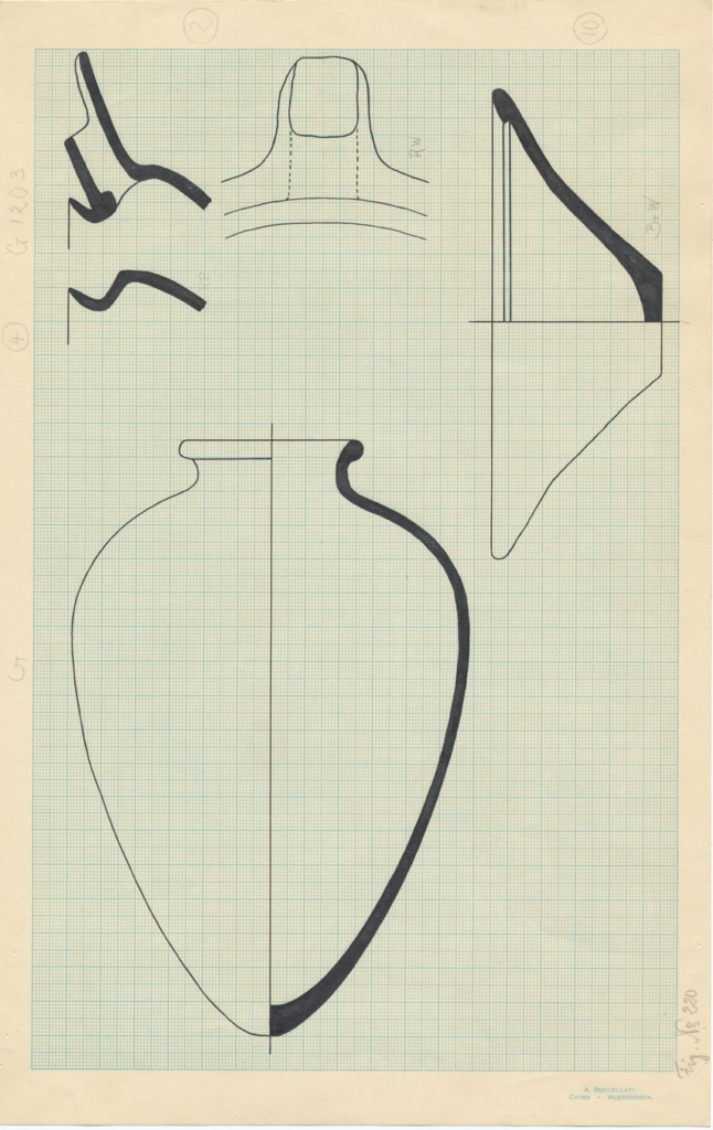 Drawings: G 1203: pottery