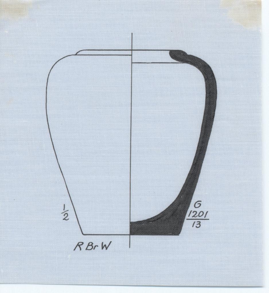 Drawings: G 1201: pottery, jar