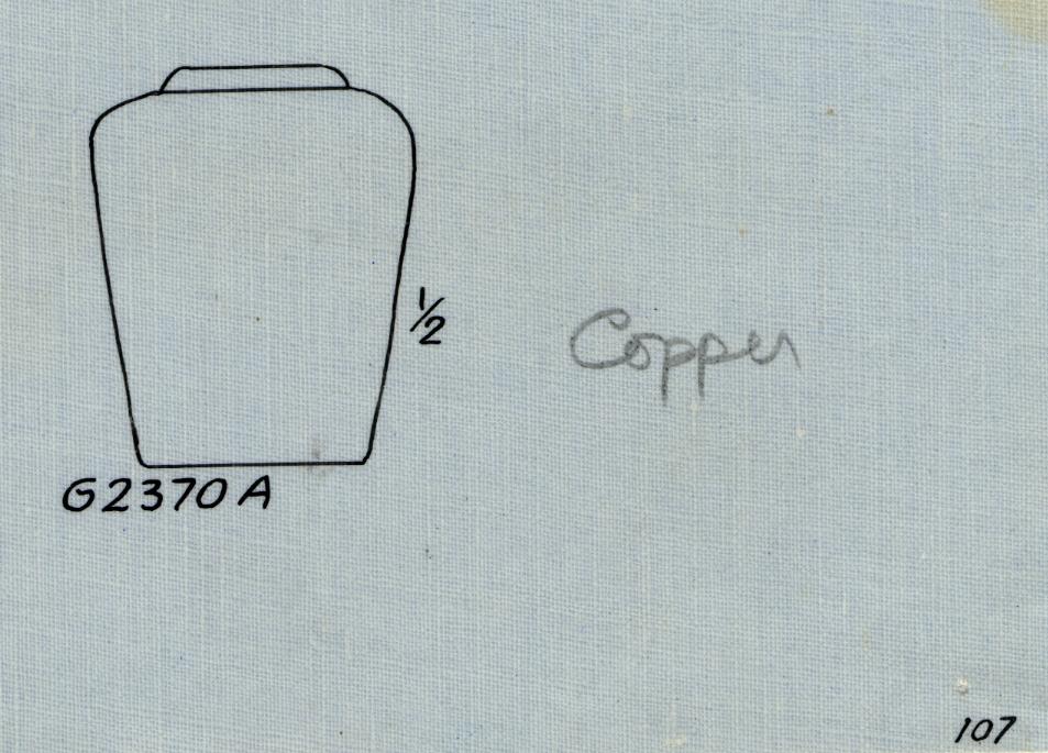 Drawings: G 2370, Shaft A: jar, copper
