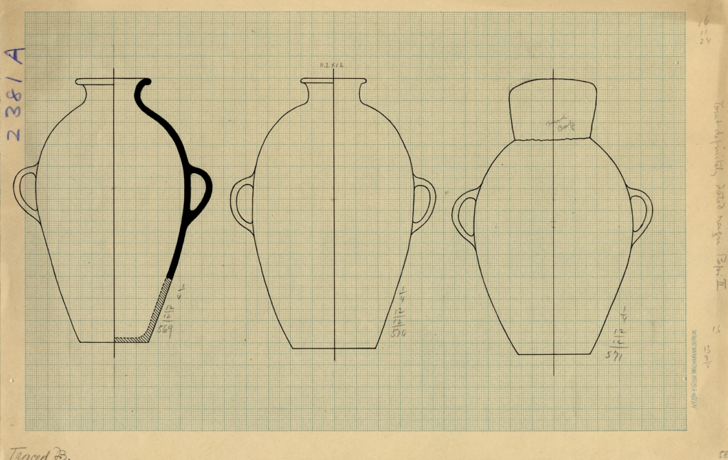 Drawings: G 2381, Shaft A: pottery, jars