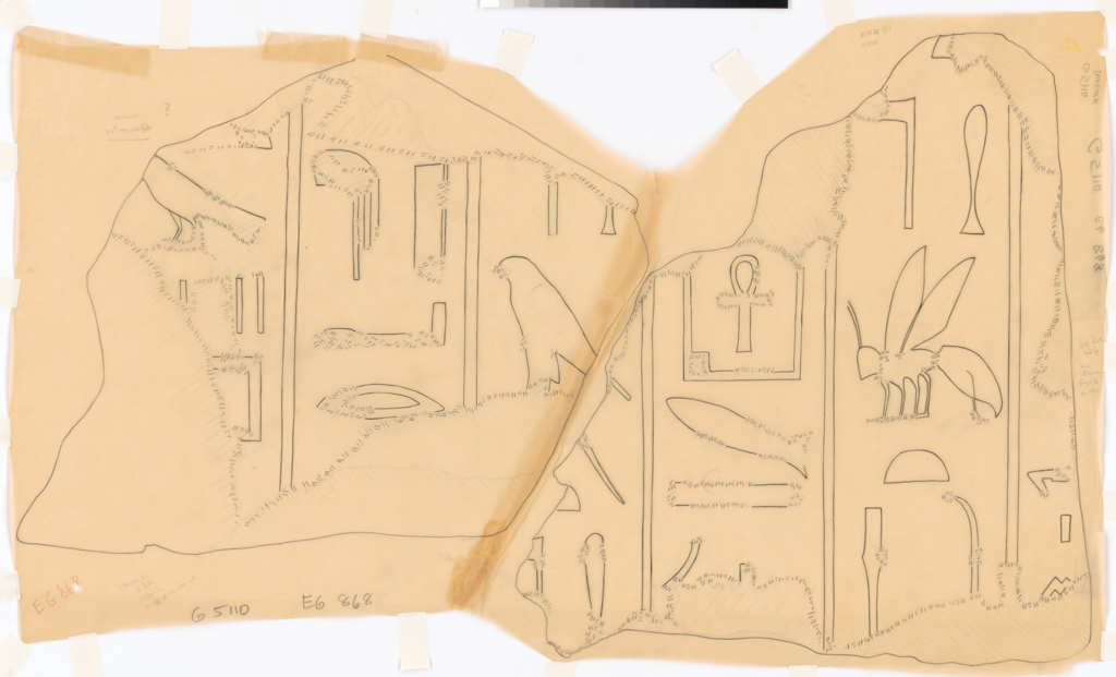 Drawings: G 5110: relief from N jambs