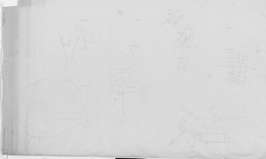 Drawings: G 5110: graffiti from E wall