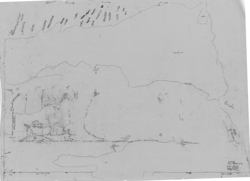Drawings: G 7650: relief from corridor, N wall