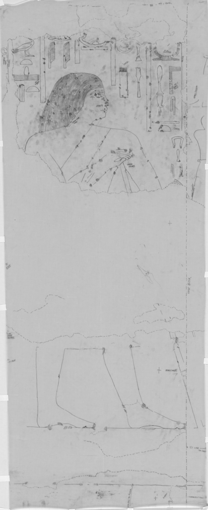 Drawings: G 7650: relief from chapel, N wall