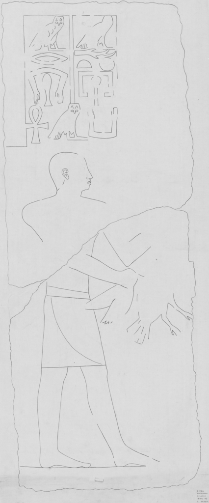 Drawings: G 7211: relief from column