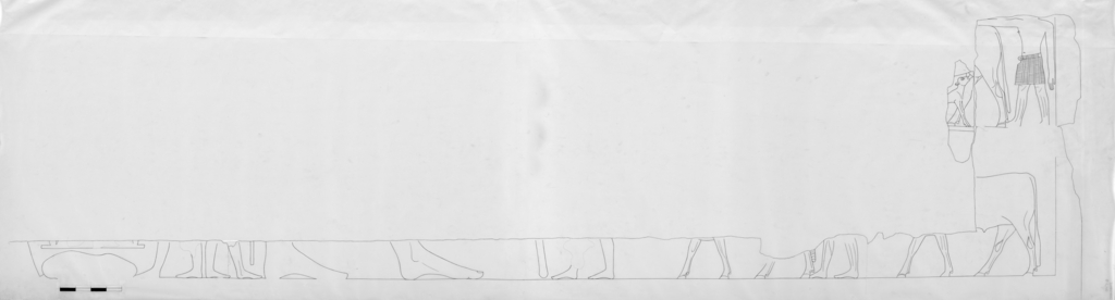 Drawings: G 5110: relief from W wall, center