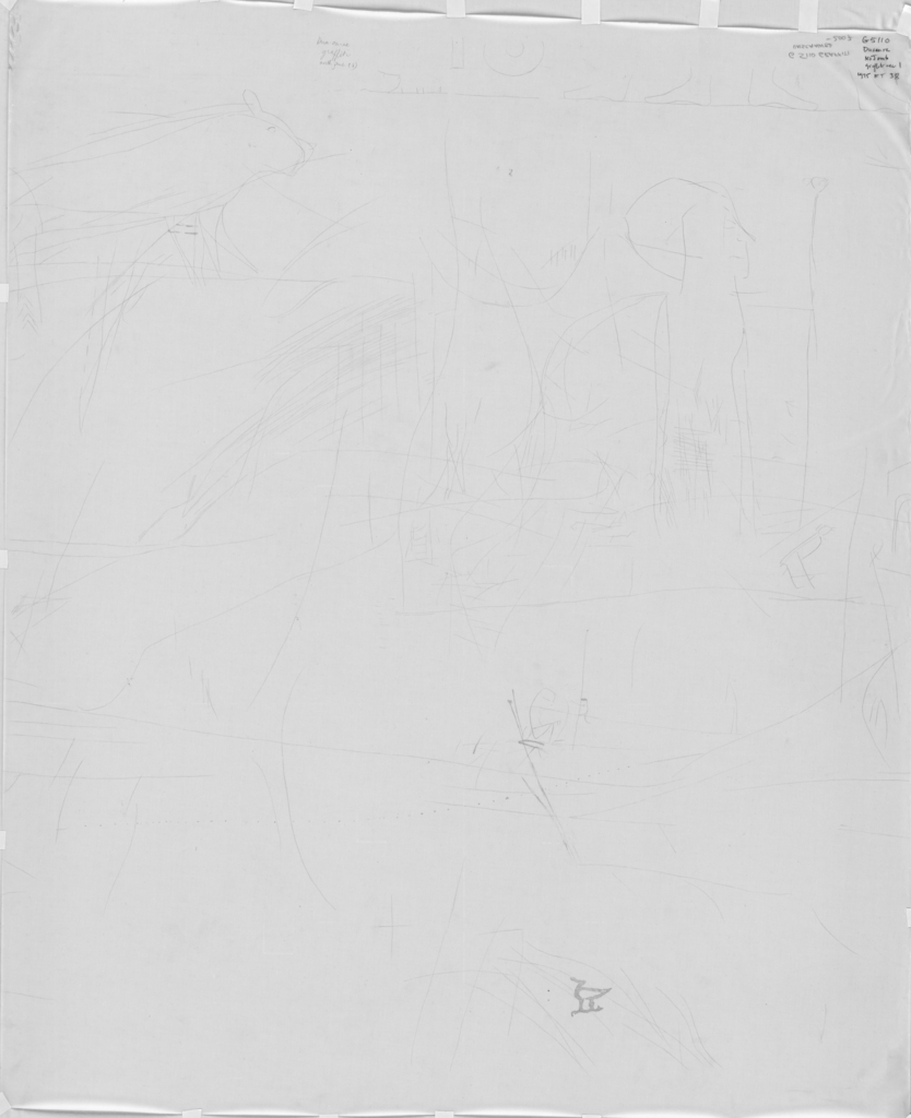 Drawings: G 5110: graffiti from N jamb