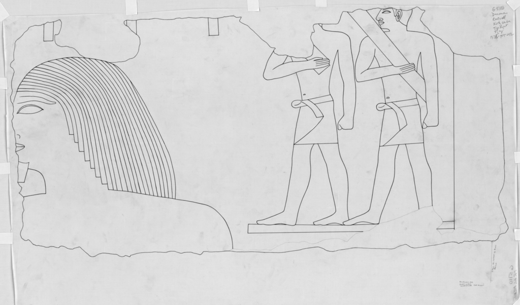 Drawings: G 5110: relief from block, E wall, N section, top right