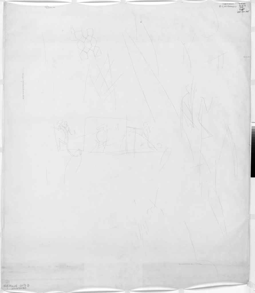 Drawings: G 5110: graffiti from S jamb, interior