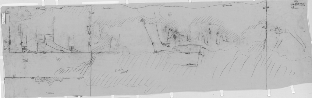 Drawings: G 7650: relief from E wall, left section
