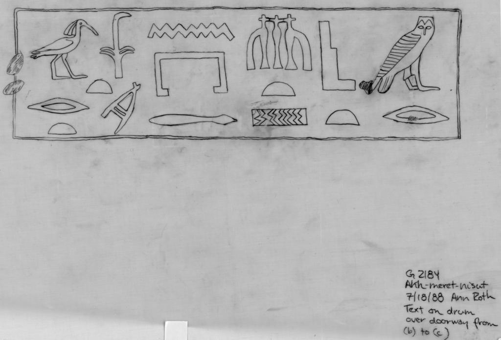 Drawings: G 2184: relief from drum over doorway