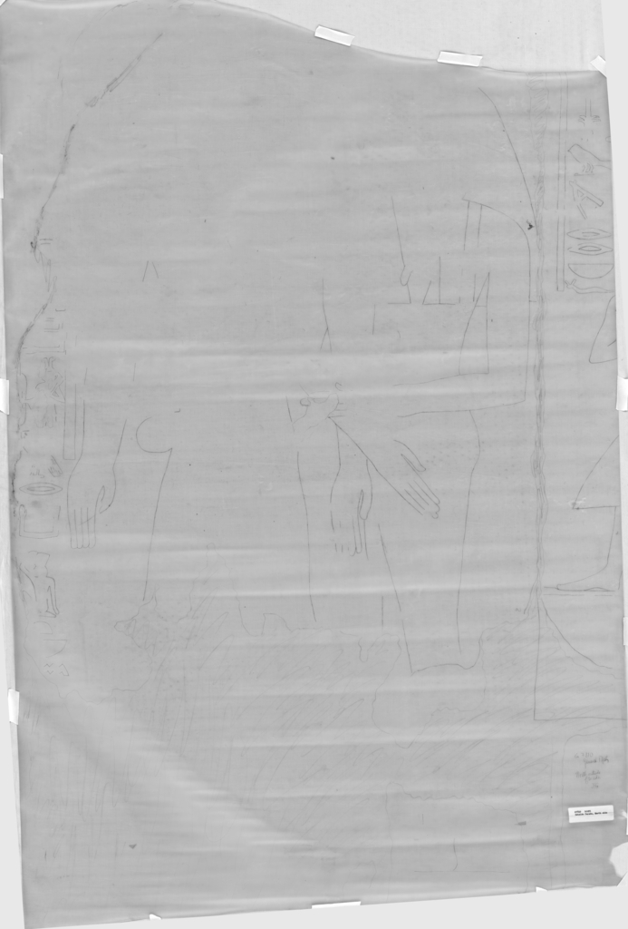 Drawings: G 7810: relief from facade, exterior, N side