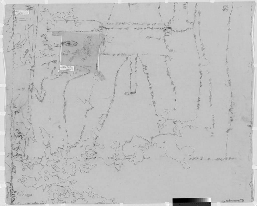 Drawings: G 7760: relief from W wall, lower half, N end