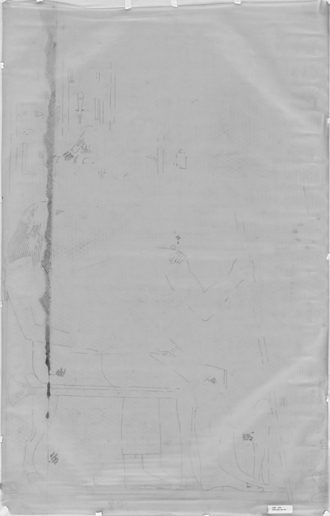 Drawings: G 7810: relief from N wall, W end