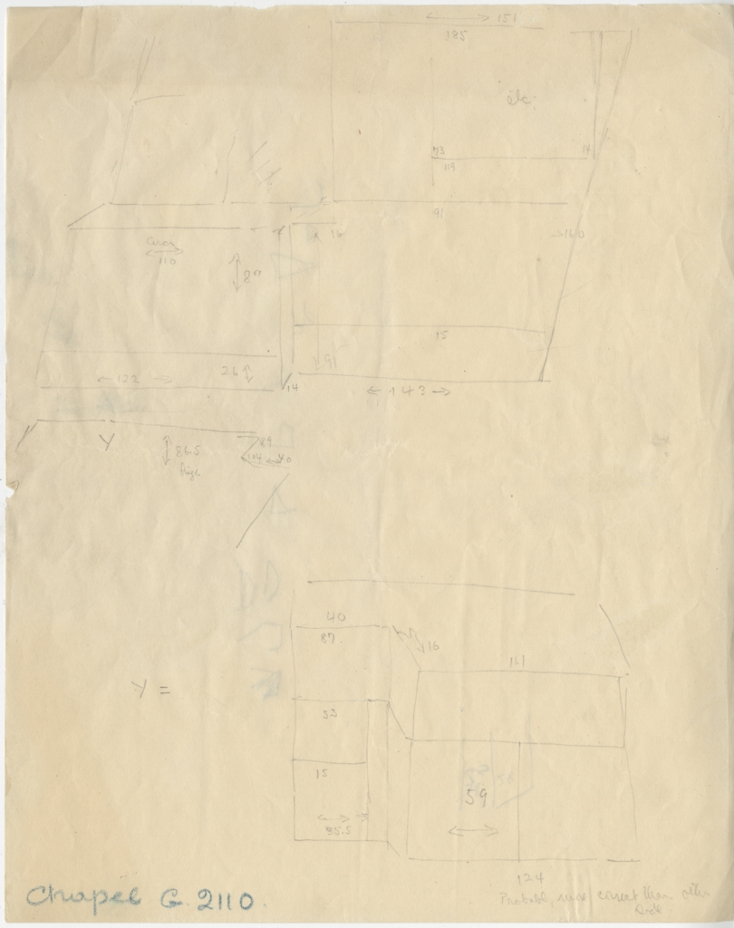 Maps and plans: G 2110, Sketch plan of chapel