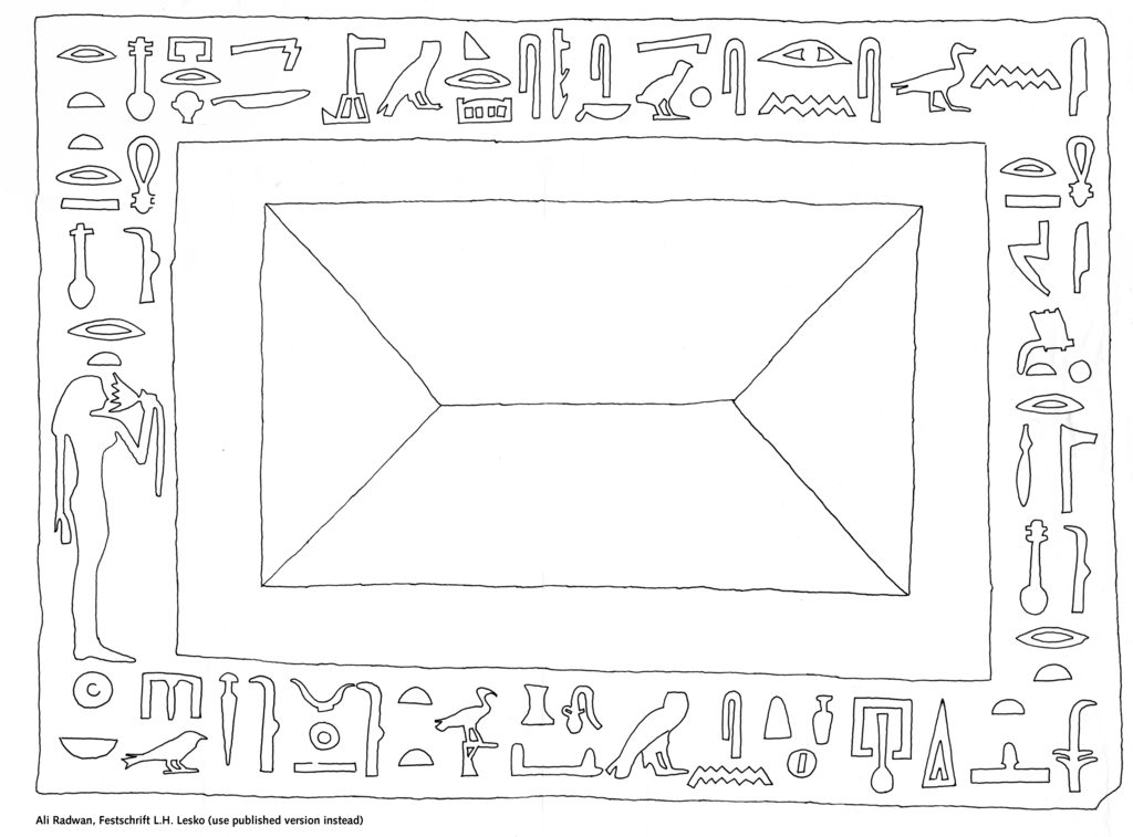 Drawings: ABC 105: offering basin of Renpetneferet