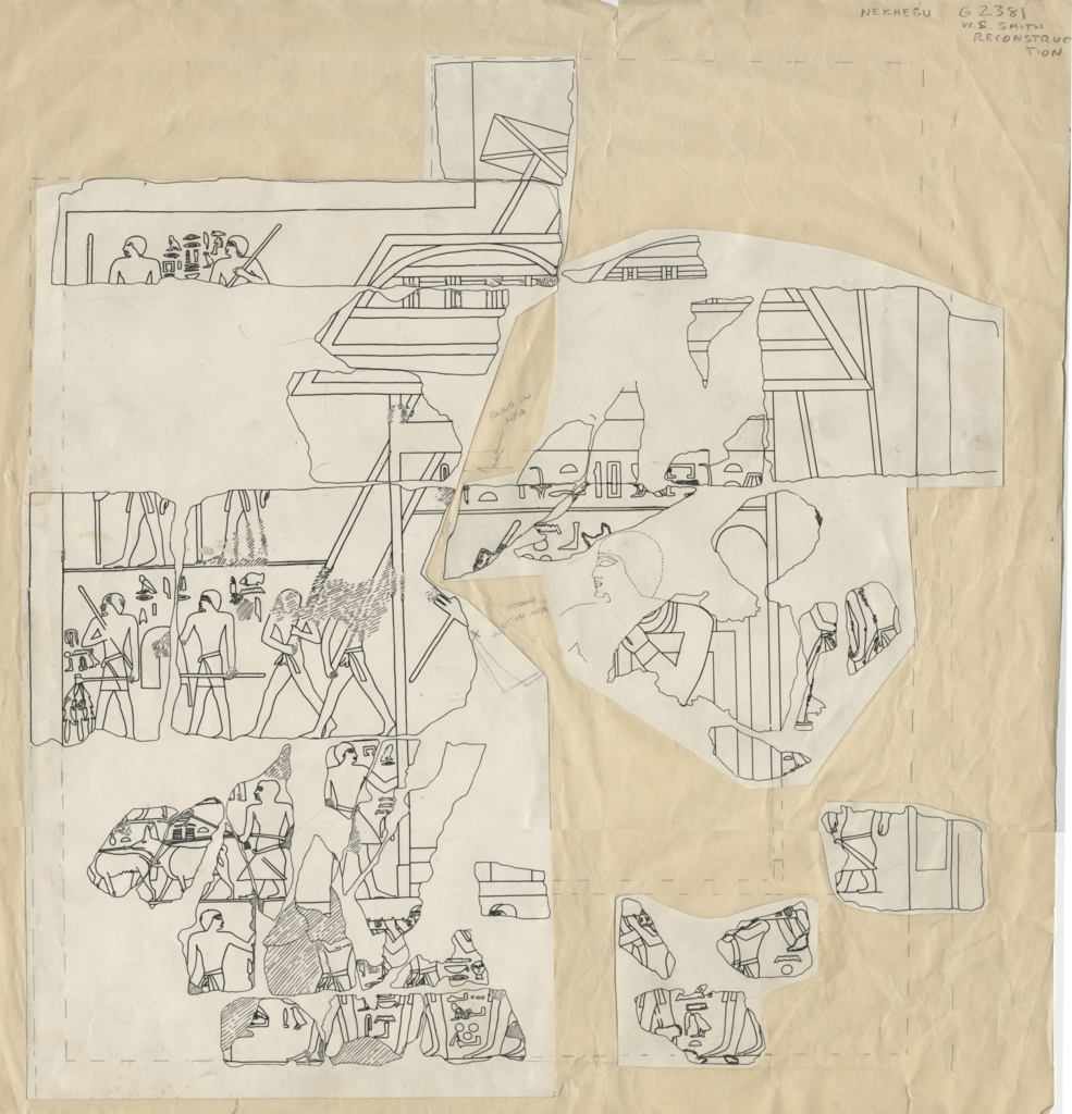 Drawings: G 2381: relief fragments, reconstruction