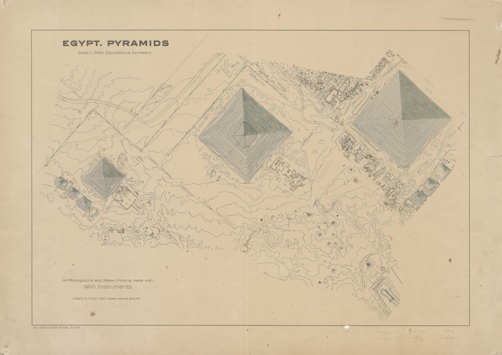 Maps and plans: Aerial survey map of the Giza Pyramids