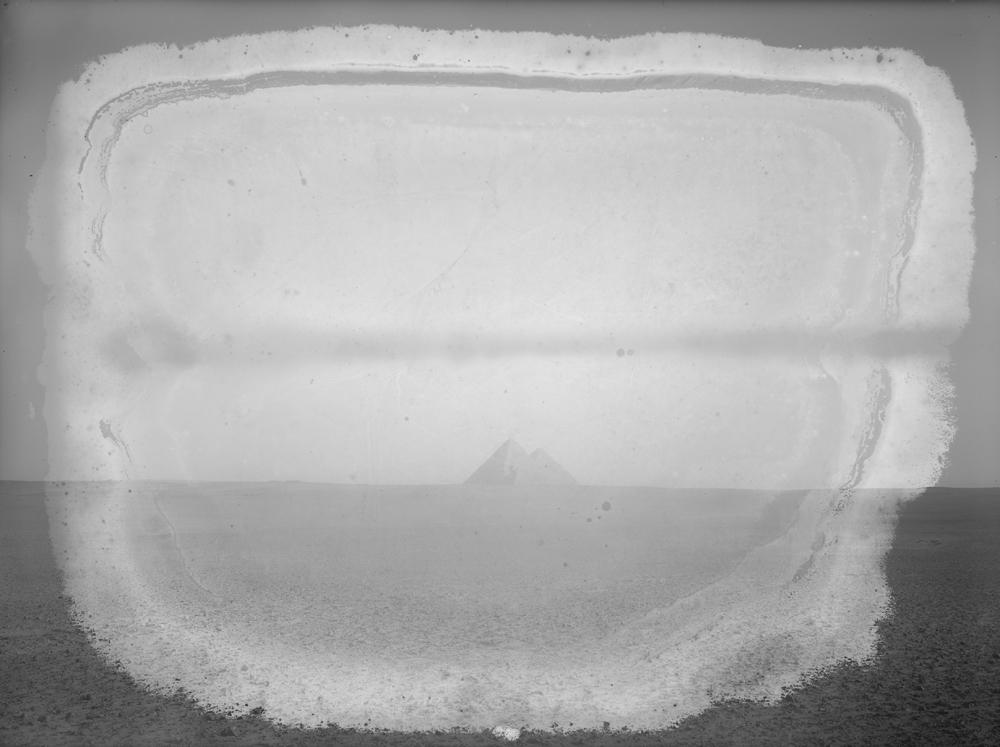 General view: Site: Giza; View: Giza, Khufu pyramid, Khafre pyramid, Menkaure pyramid