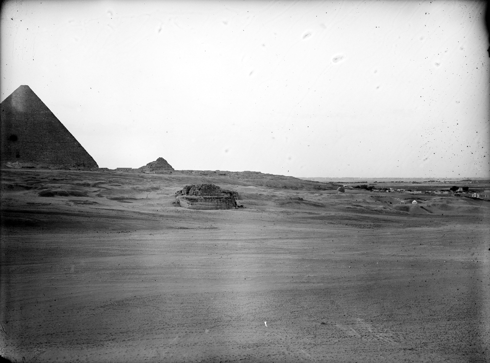 Menkaure Pyramid Complex: Site: Giza; View: Menkaure valley temple, G 8400