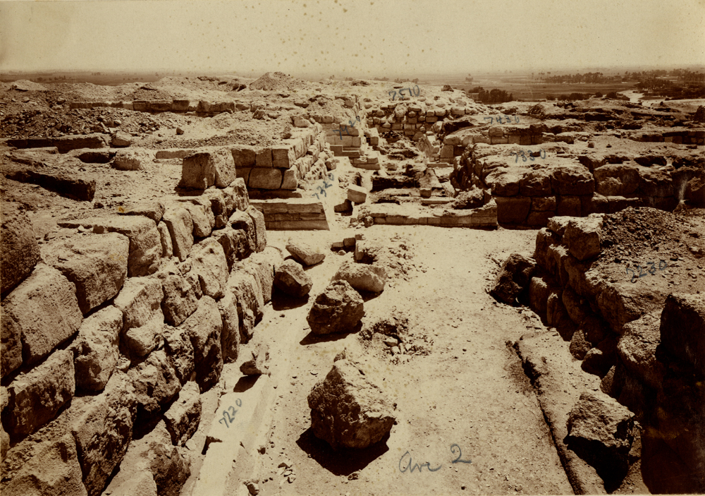 Eastern Cemetery: Site: Giza; View: avenue G 2, G 7210-7220, G 7310-7320, G 7410-7420, G 7230-7240, G 7330-7340, G 7430-7440, G 7510