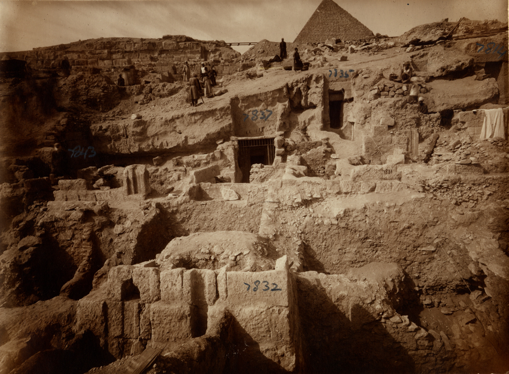 Eastern Cemetery: Site: Giza; View: G 7837+7843, G 7832, G 7831, G 7835, G 7814