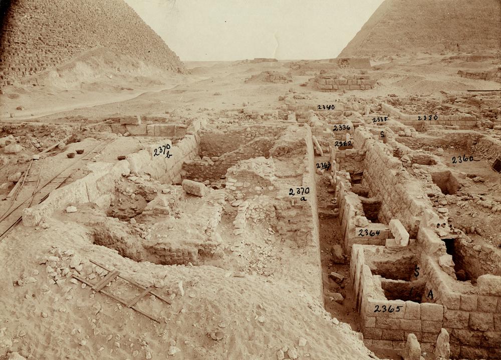 Western Cemetery: Site: Giza; View: G 2366, G 2365, G 2364, G 2363, G 2362, G 2371, G 2360, G 2336, G 2335, G 2340 = G 5480, G 2330 = G 5380